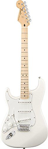 Fender Standard Stratocaster Electric Guitar - Left Handed - Maple Fingerboard, Arctic White by Fender