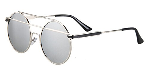 GAMT Attractive Metal Bow Frame Summer Plastic Cateye Sunglasses silver frame - Rayban Fake Aviators
