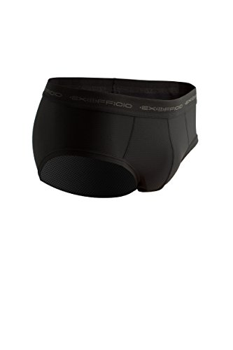ExOfficio Men's Give-N-Go Flyless Brief, Black, Large