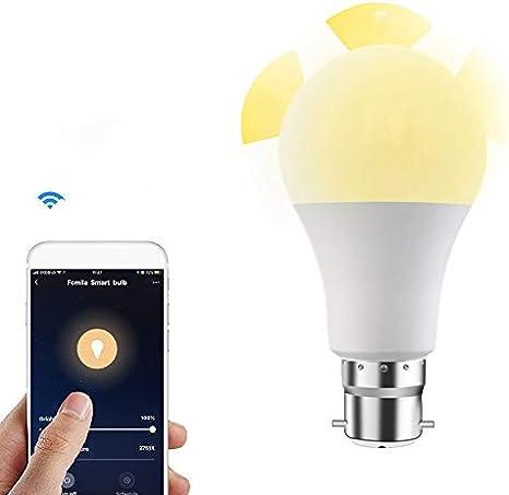 WiFi Smart LED RGB Light Bulb 15W Dimmable Alexa Smart Home Control Smartphone