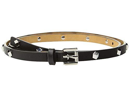 Michael Belt Kors Studded - MICHAEL Michael Kors Studded Leather Skinny Belt, Black, Large