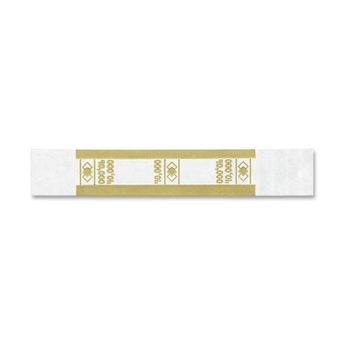 55010 PM SecurIT $10,000 Currency Strap – 1000 Wrap(s) – Self-stick, Adhesive – Kraft – White, Mustard