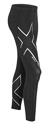 2XU Men's HYOPTIK Compression Tights, Black/Silver Reflective, X-Large by 2XU (Image #4)