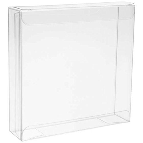 Crystal Clear Boxes - ClearBags 4 x 4 x 1 Crystal Clear Box for Candy Cookies Popcorn | High Density PET Soft Fold Design Protects Treats, Favors | Acid Free & Archival Safe | 25 Boxes | FB99