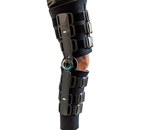 Adjustable Range of Motion Post-Op Knee Stabilizer Brace with Full Foam, X-Large