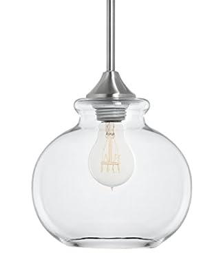 Linea di Liara Ariella Casella Clear Glass One-Light Stem Hung Pendant Lamp