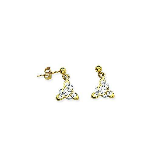 Celtic Angel Earring, 14Kt Gold Earring by DiamondJewelryNY