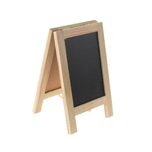 Homeford Firefly Imports Mini Chalkboard Wood Cork Easel, Rectangle, 7-1/2-Inch 7-1/2