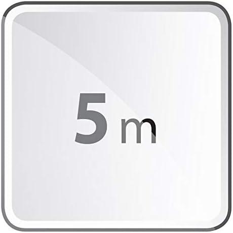 1,5 mm Steckdosen 45/° gedreht EMOS Steckdosenleiste 4-Fach wei/ß Schuko Mehrfachsteckdose mit Kindersicherung 5 m Kabel IP20 f/ür Innenbereich