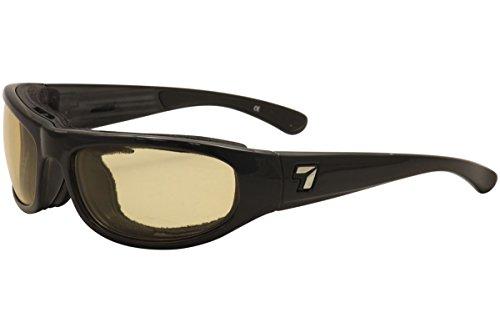 7Eye Sunglasses - Whirlwind / Frame: Glossy Black Lens: 24:7 Contrast Photochromic Dark Brown to Yellow