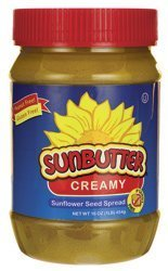 Sunbutter Sunflower Spread - Creamy 16 oz (454 grams) Jar by - 454g Jar