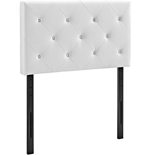 Modway Terisa Vinyl Headboard, Twin, White by Modway