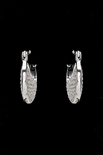 Trendy Fashion Jewelry Encrusted CZ Crescent Earrings (S) By Fashion (Erickson Beamon Chandelier Earrings)