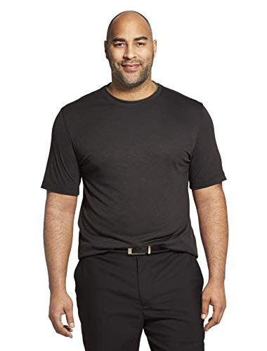 Van Heusen Men's Air Short Sleeve Doubler Crew Neck Tee, Jet Black, X-Large