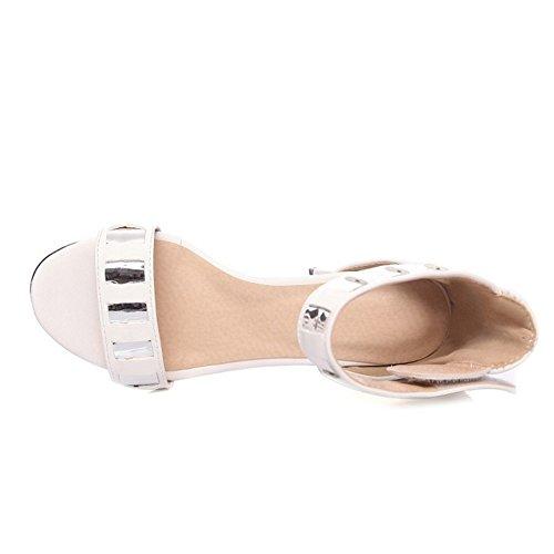 Sko Sandaler Kvinners 10 Hæl 4 farger Sjjh Hvit Med Stor Sandal Uk Størrelse Lav Ankel Stropper Og qO4H4Sx5nd