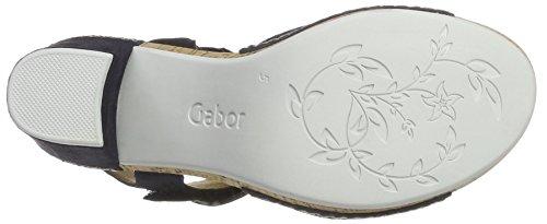 Gabor Shoes Comfort, Sandalias con Cuña Para Mujer Azul (ocean Kork/OBL)