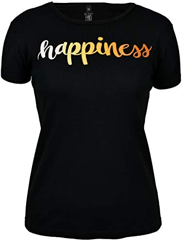 Happiness Organic Cotton Tee - Green 3 Women's Happiness Tee Black