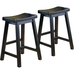 "Walmart.com: Ashby Bar Stools 29"", Set of 2, Black Rubbed: Furniture"