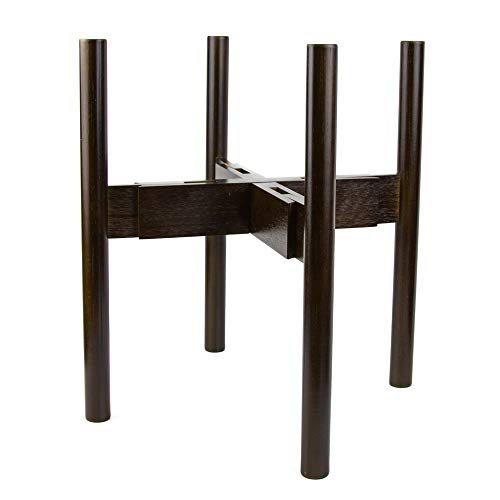 """Oak & Boo Adjustable Plant Stand Mid Century Modern Indoors Outdoors Planter - Fits Tall Large Pots 9"""" to 12"""" (Planters Pot Not Included)"""