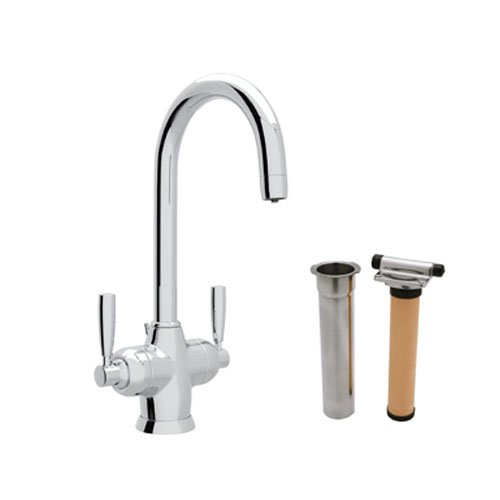 (Rohl U.KIT1335LS-APC-2 Perrin and Rowe Single Hole Bathroom Faucet with Triflow Filter, Polished Chrome)
