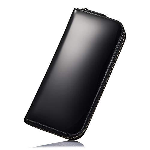 SANTO HOMME 世界最高級皮革【コードバン】を使用したメンズ財布 ラウンドファスナー