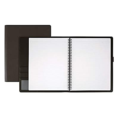 "Office Depot Brand Premium Folio Notebook, 8 1/2"" x 11"", 1 Subject, Narrow Ruled, 120 Pages (60 Sheets), Black"