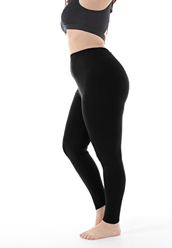 eb42439c4e5 Zerdocean Women s Plus Size Summer Lightweight Breathable Full Length  Leggings