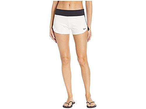 Nike Women's Solid Shorts Cover-Up White Medium