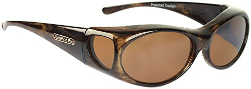 Jonathan Paul Fitovers Aurora Small Polarized Over Sunglasses ; Brown-Marble & Polarvue - Jonathan Sunglasses Fitover Paul
