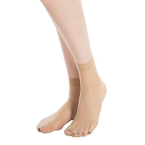 (MANZI 12 Pairs Women's Ankle High Sheer Socks)