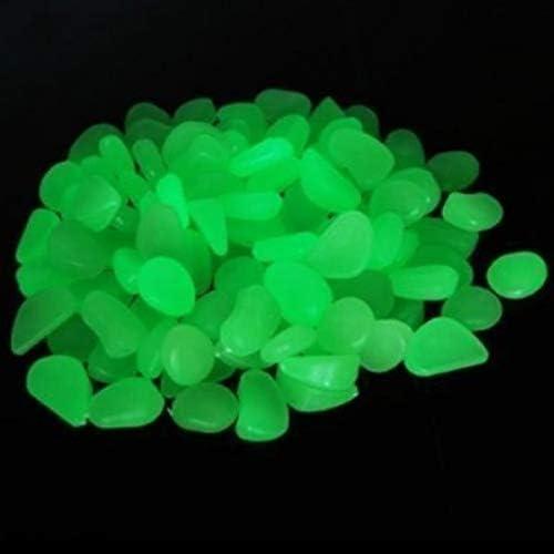 Piedras artificiales luminosas, YSD, 100 unidades, decorativas, para jardín, entrada, fuente o acuario, color verde: Amazon.es: Jardín