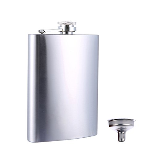 Stainless Steel 10oz Alcohol Flask - 3