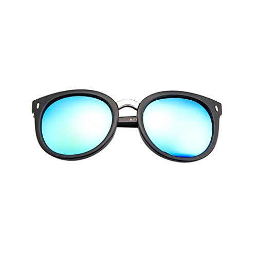 IslandseUnisex Stylish9 Colors Twin-Beams Geometry Design Oval Frame Mirror Sunglasses Cat Eye Glasses (D) - Armani Cat