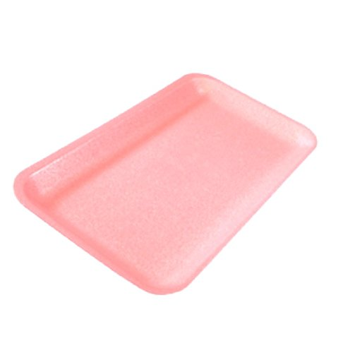 CKF 10SP, #10S Pink Foam Meat Trays, Disposable Standard Supermarket Meat Poultry Frozen Food Trays, 100-Piece (Supermarket Food Tray)