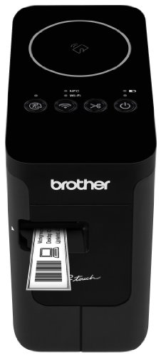 (Brother P-touch, PTP750W, Wireless Label Maker, NFC Connectivity, USB Interface, Mobile Device Printing, Black)