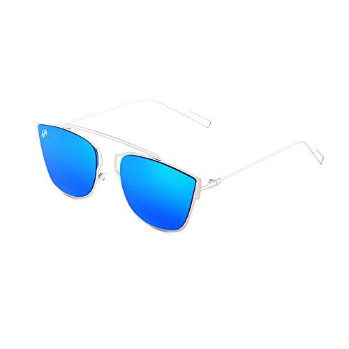 hombre sol TWIG de mujer Gafas espejo Azul Plata STENDHAL naFPxwRq