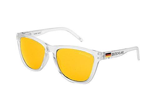 KYPERS Alemania, Gafas de Sol Hombre^Mujer, Clear Orange Mirror, 54-