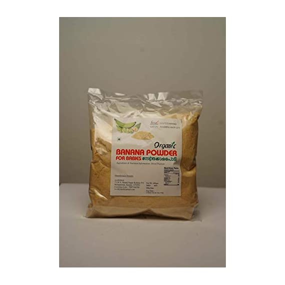 Worth2Deal Kerala Special 400g Organic Banana Powder HYGIENICALLY Prepared ,A Complete Natural Baby Food,Prepared with