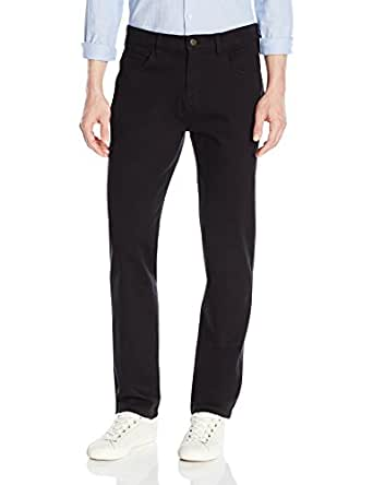 Goodthreads Men's Athletic Fit 5-Pocket Chino Pant, Black, 28W x 28L