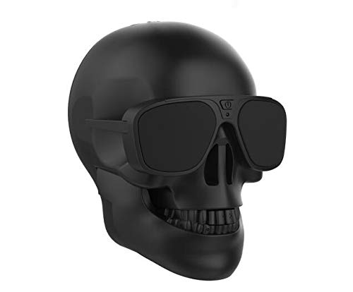 Generic Skull Head Shape Portable Wireless Bluetooth Speaker for Desktop PC/Laptop Notebook/Mobile Phone/MP3/MP4 Player-Black]()