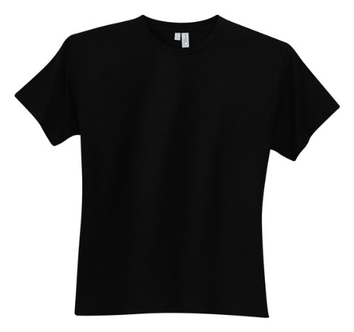 Perfect Weight Crew Neck Tee - District Made Men's Perfect Weight Crewneck T-Shirt_Jet Black_L