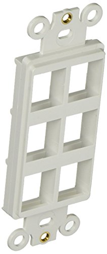 Morris 88120 Decorative DataComm Frame for Keystone Jack and Modular Inserts, 6 Ports, White