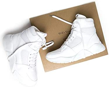 Will's Vegan Shoes Chicago - Scarpe Alte da Donna, Colore: Bianco