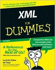 XML For Dummies 4th (forth) edition Text Only