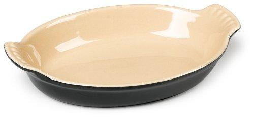 Le Creuset Heritage Stoneware Petite Oval Au Gratin Dish, Black Onyx