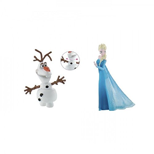 Frozen Figurines Olaf + Elsa