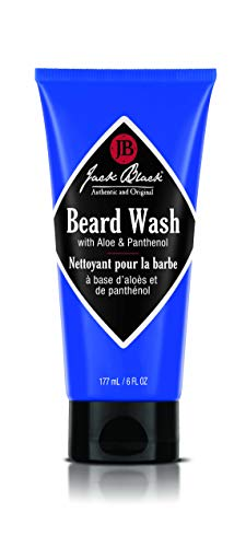Jack Black - Beard Wash, 6 fl oz - PureScience Formula, Aloe & Panthenol, Multifunctional Beard Treatment, Softens Facial Hair, Removes Oil and Dirt, Conditions Facial Hair and Skin