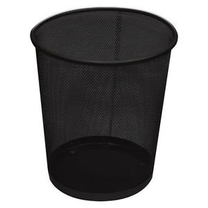NEW BLACK METAL MESH WASTE PAPER BIN WASTEBASKET FOR OFFICE HOME USE OnlineDiscountStore