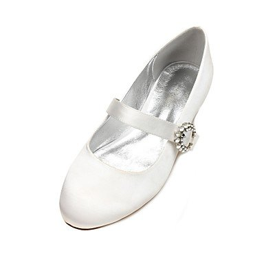 CN38 Shoes Rhinestone Wedding Wedding Dress 5 Evening Bowknot Blue 5 Satin Party Flat US7 amp;Amp; Summer UK5 Heelivory Comfort Ruby Women'S Spring Champagne EU38 Fgd5wPqqx
