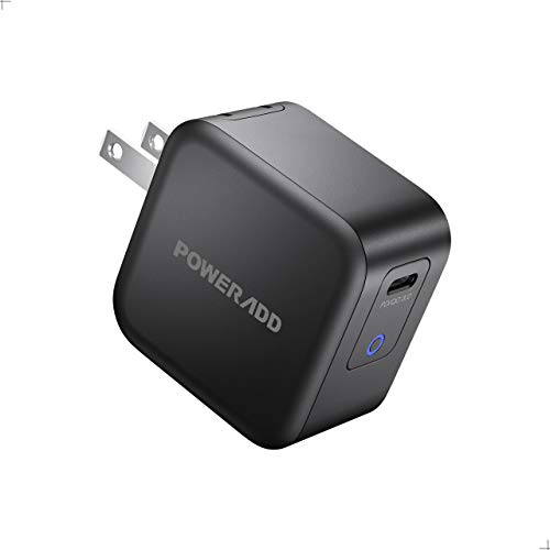 USB C Charger POWERADD 61W Wall Charger [GaN Tech] Type C Fast Charging Power Adapter PD Charger with Foldable Plug for MacBook Pro/Air, iPad Pro, Nintendo, iPhone 11 Pro Max, Google Pixel and More